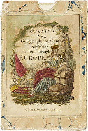 Wallis's New Geographical Game exhibiting a Tour through Europe