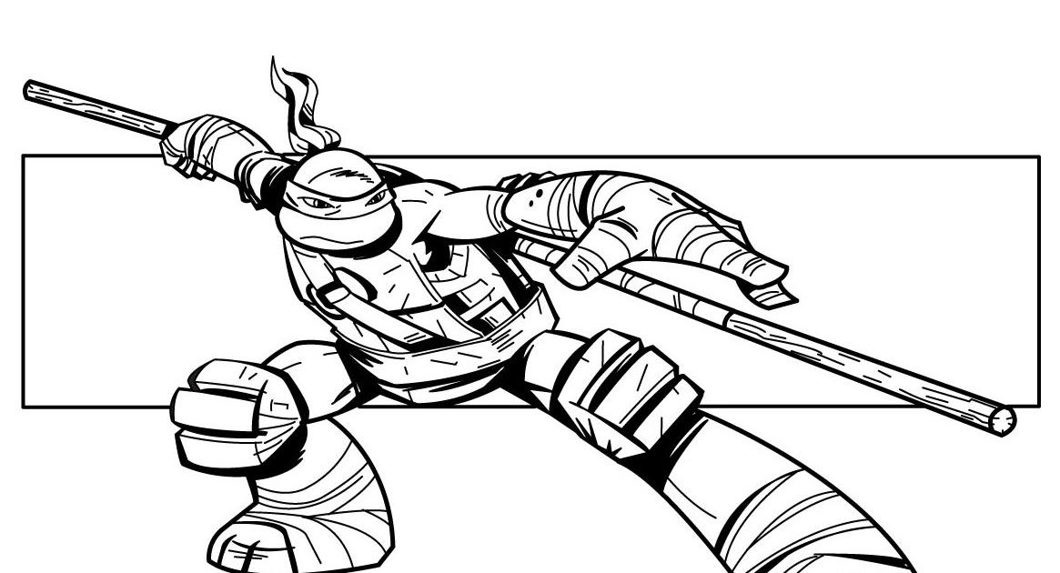 Coloriage204: coloriage de tortue ninja