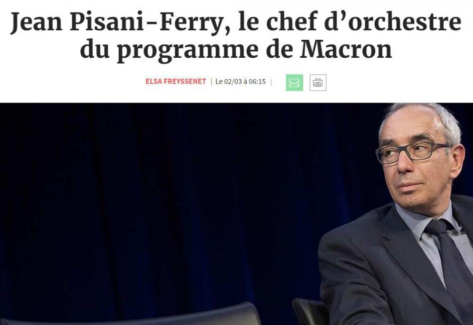 """Résultat de recherche d'images pour """"Jean Pisani-Ferry Macron"""""""