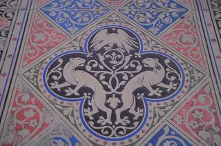 Sainte Chappelle floor, Paris
