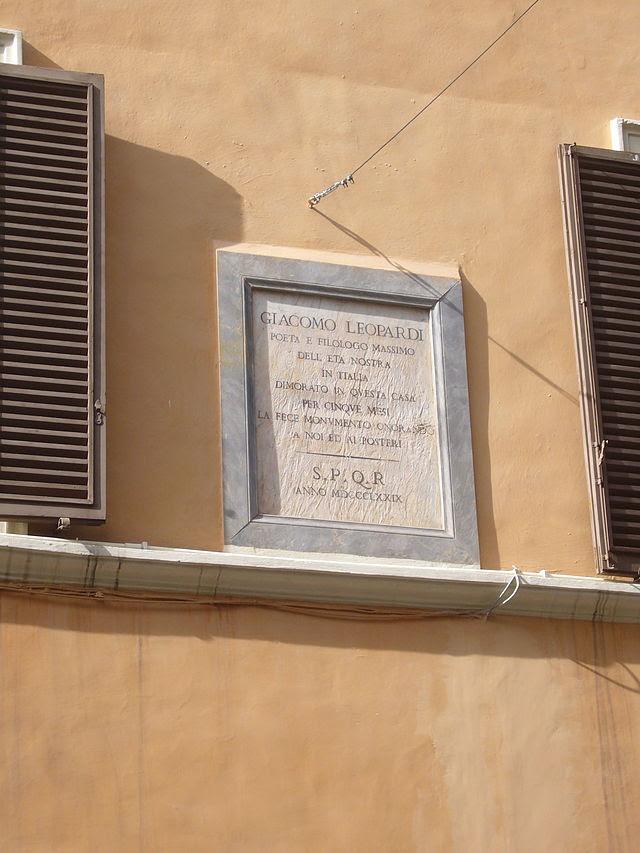 Memoria di Leopardi a Roma (pal Mattei) 1260049.JPG