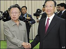 Kim Jong-Il y Wen Jiabao