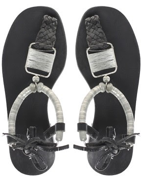 Image 3 ofPark Lane Leather Thong Sandal With Ankle Cuff