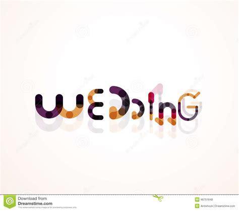 Wedding Word Font Concept Design Stock Vector