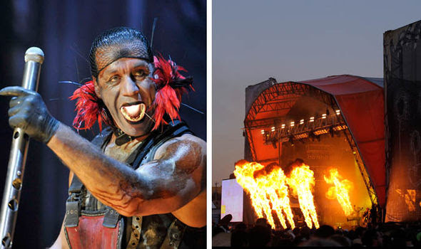 Rammstein performing