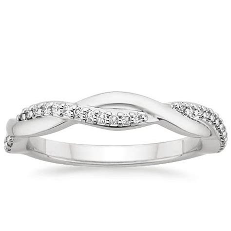 Twisted Vine Diamond Ring in 18K White Gold
