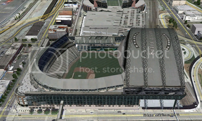 Safeco Field (Seattle, WA); 3D model by Google 3D Warehouse and Alex