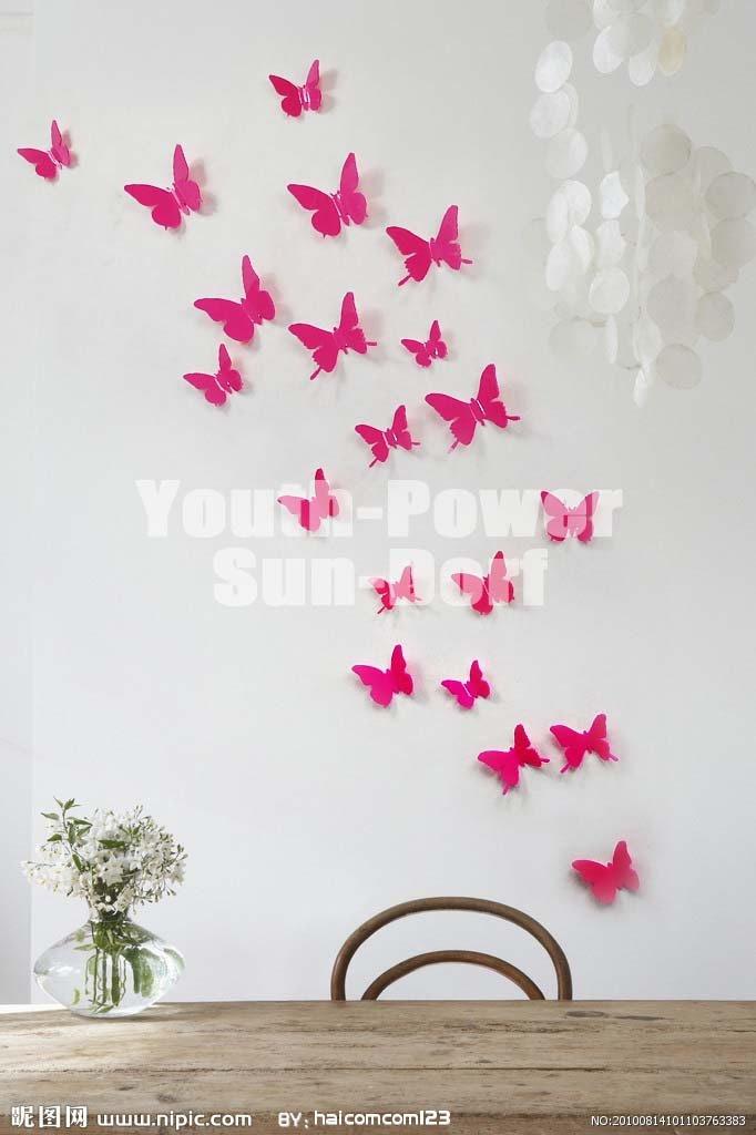 Aliexpress.com : Buy 3D Wall Sticker Butterfly 30pcs Home Room