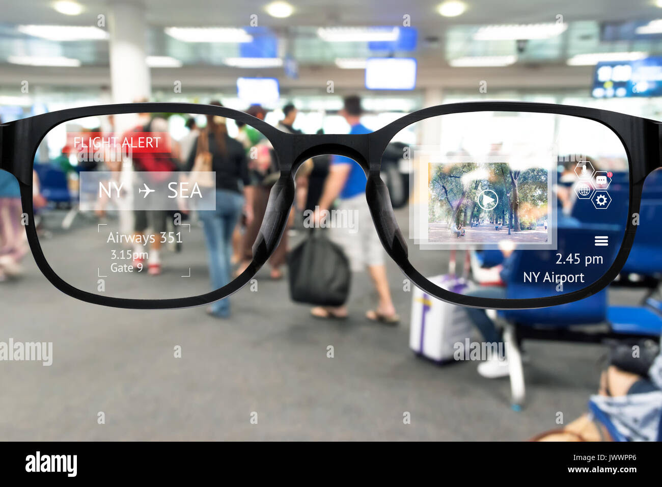 Augmented reality marketing and smart AR glasses technology concept Stock Photo: 153616014 - Alamy