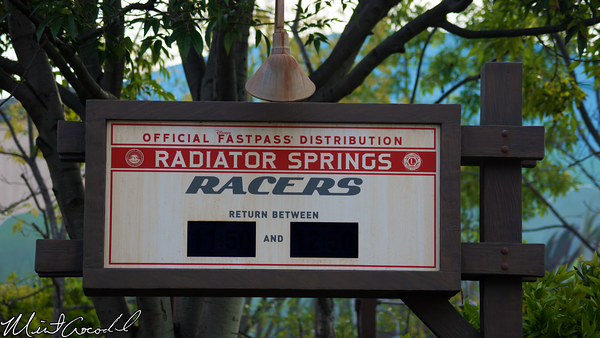 Disneyland Resort, Disney California Adventure, Radiator Springs Racers, FastPass