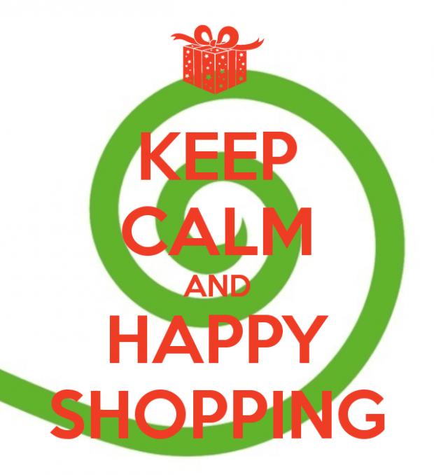 keep calm and happy shopping
