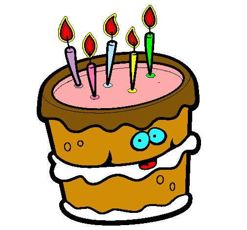 Resultado de imagen de dibujo tarta cumple