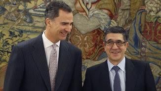 Felip VI i Patxi López (EFE)