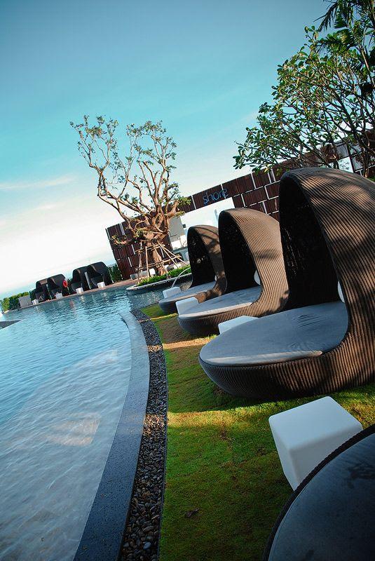 swimming pool and shore bar
