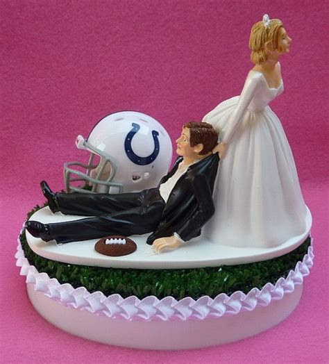 Wedding Cake Topper Indianapolis Colts Indy Football