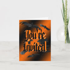 Bats Halloween Invitation card