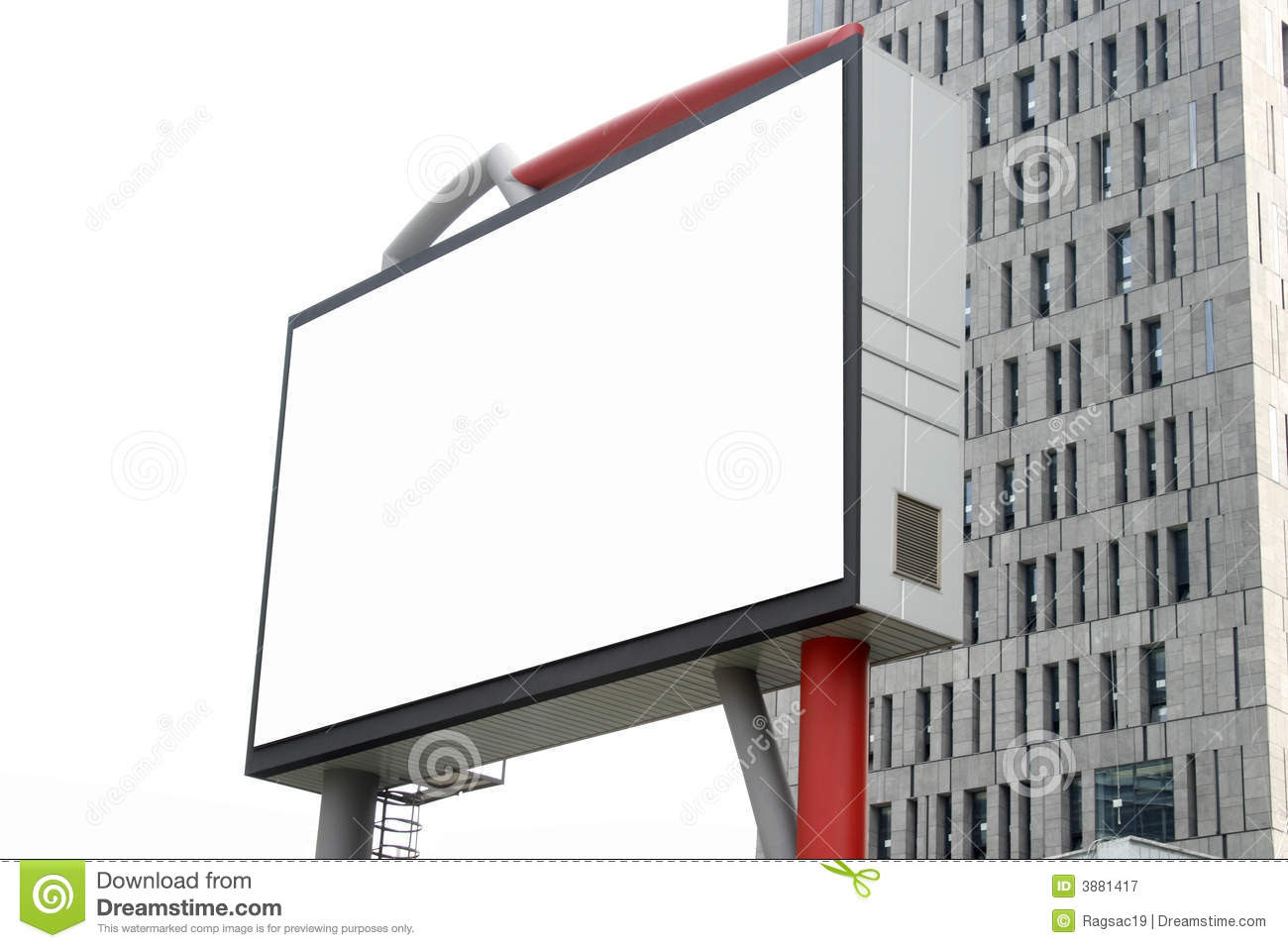 Blank Billboard In The Building Royalty Free Stock Photography ...