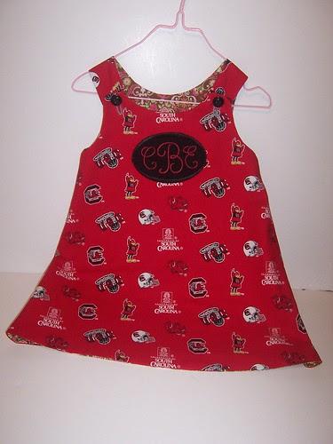 Custom Embroidered A-line dress