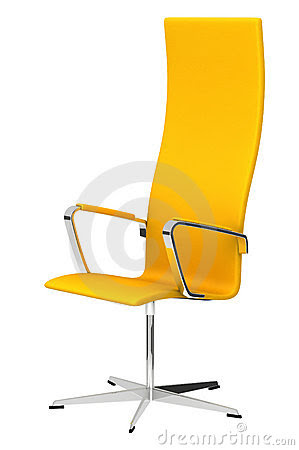 Yellow Office Chair Royalty Free Stock Photography - Image: 19776277