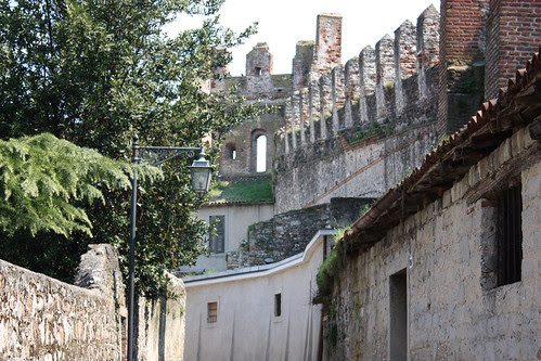 Castle walls around the town