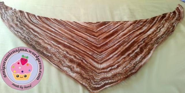 Ishbel shawlette crochet ganchillo chal