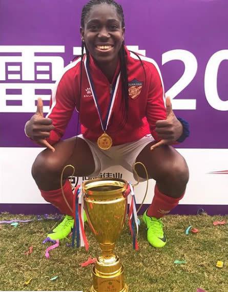 Oshoala wins best striker award in China