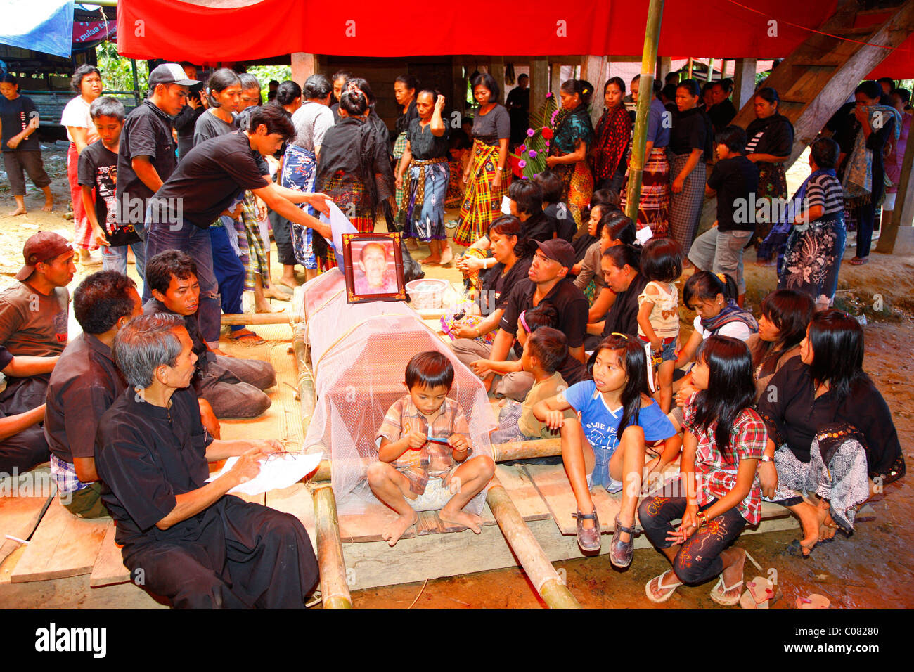 Burial ceremony, Toraja culture, Sulawesi, Indonesia, Asia Stock Photo, Royalty Free Image