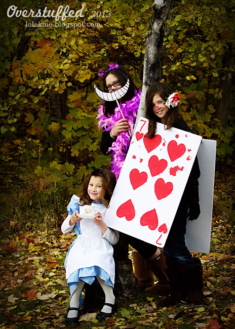 Halloween in Wonderland: Alice, the Cheshire Cat, and the Seven of Hearts