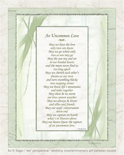 UNCOMMON LOVE, wedding poem by Terah Cox
