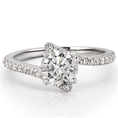 Women's Unique Pave Diamond Engagement Ring   Patronus