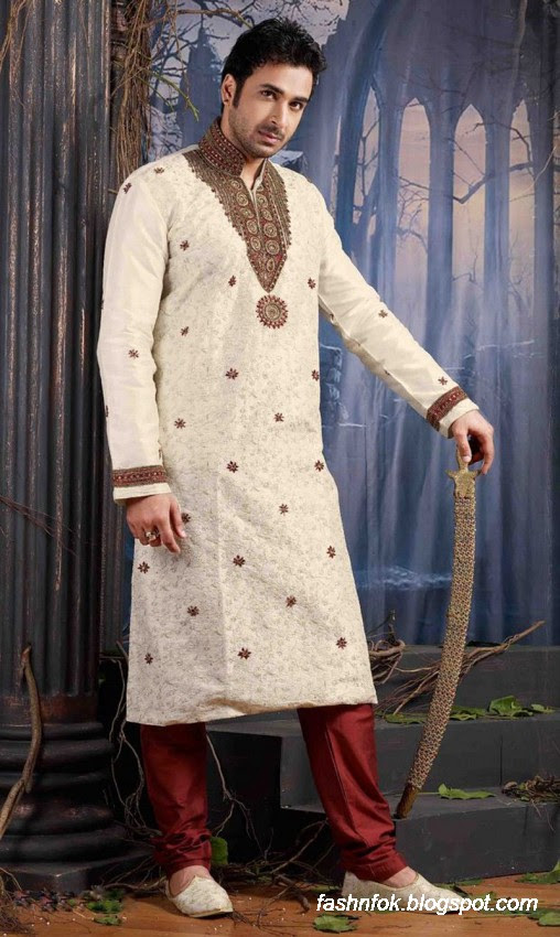 Kurta-Designs-Men-Male-New-Latest Silk-Kurta-Style-Design-4