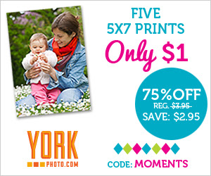 Five 5X7 Prints – Only $1 – 75% Off!