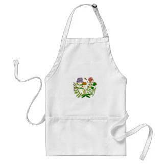 Botanical Illustration on Apron