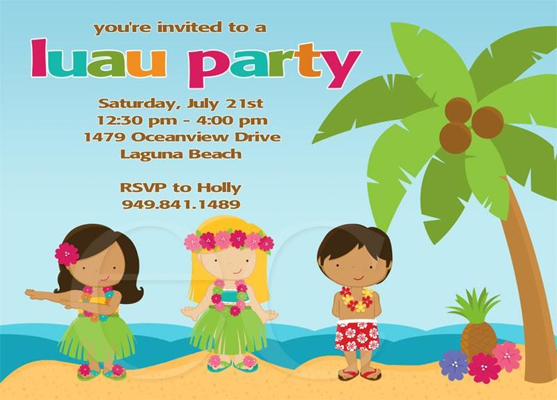 Free Printable Luau Party Invitations Templates - Wedding ...