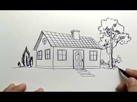 710 Cara Menggambar Rumah Di Buku Gambar Gratis Terbaik Gambar Rumah