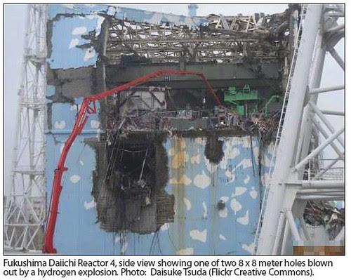 fukushima daiichi reactor 4 by jim leftwich