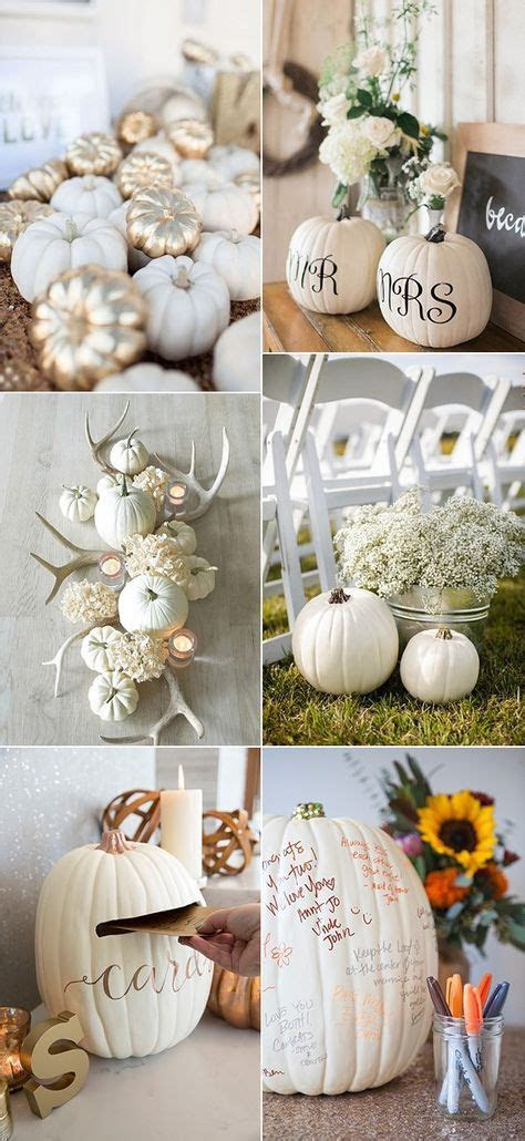 25  best ideas about Pumpkin wedding decorations on