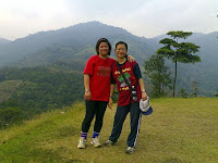 Amelia and Guat Ling on the viewing point