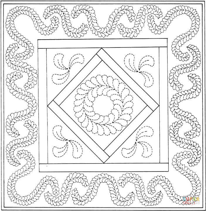 Coloring Page Quilt - Blog Images