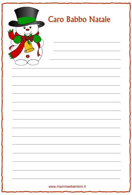 Letterine Di Natale Da Stampare N2 Mamma E Bambini