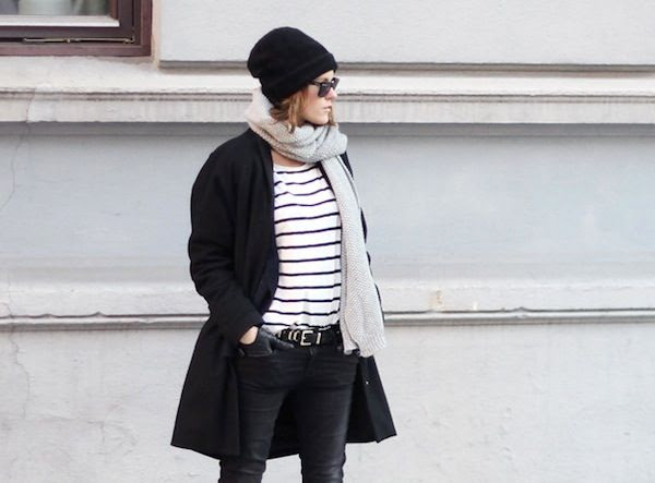 Le Fashion Blog 7 Ways To Wear Stripes In Winter Beanie Hat Grey Scarf Black Coat Striped Top Black Jeans Via Sara Strand photo Le-Fashion-Blog-7-Ways-To-Wear-Stripes-In-Winter-Beanie-Hat-Grey-Scarf-Black-Coat-Striped-Top-Black-Jeans-Via-Sara-Strand.jpg