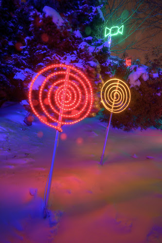 LED Lollipop - Festi Lumiere at the Quebec City Aquarium