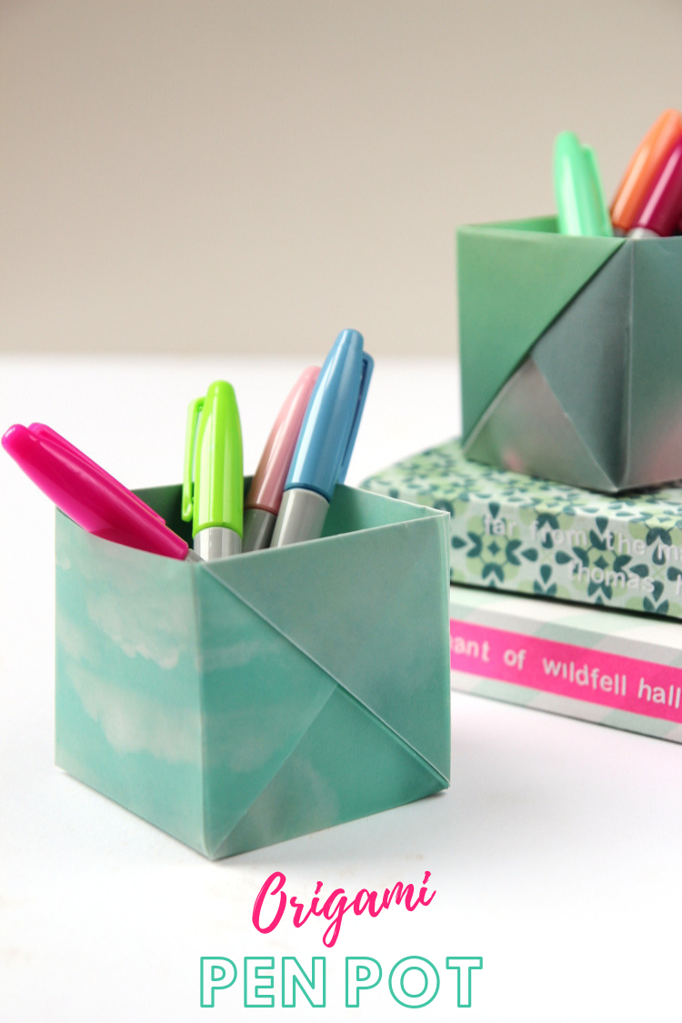 Dress Your Desk In Style With These Origami Pen Holders Gathering