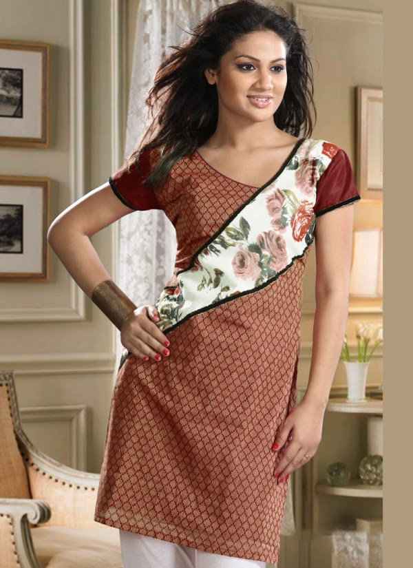 Womens-Girls-Summer-Kurti-Kurta-with-Tights-Jeans-Collection-2013-New-Fashionable-Dress-8