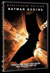 DVD cover for Batman Begins.