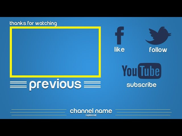 FREE Still OUTRO Templates[PACK] - Photoshop/PSD Free Outro ...