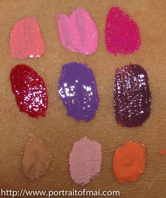 dose of colors lipgloss swatches