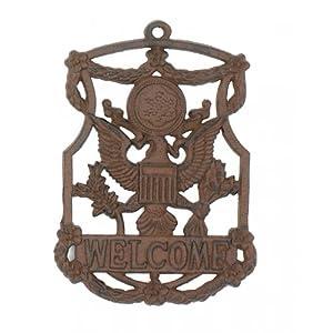 Amazon.com: Cast Iron Eagle Welcome Sign Garden Decor New Hanging ...