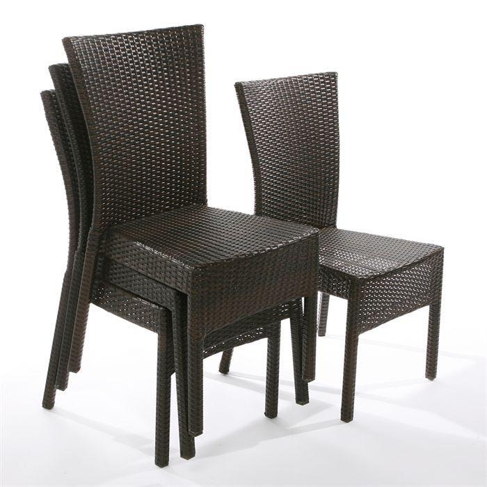 Table et chaises de terrasse chaises tressees - Table de jardin tresse pas cher ...
