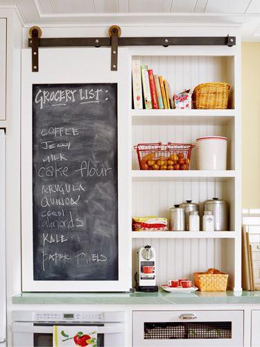 small sliding door in kitchen...Retro Kitchen - Kitchen Decor Ideas - Country Living